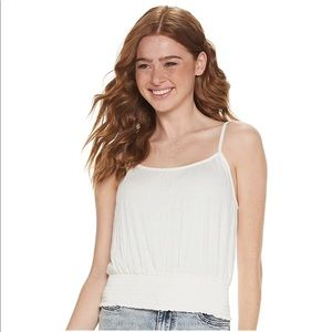 Mudd Smocked Bottom tank